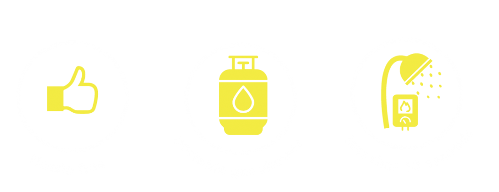 icons haasle free, portable gas and less than 10 seconds